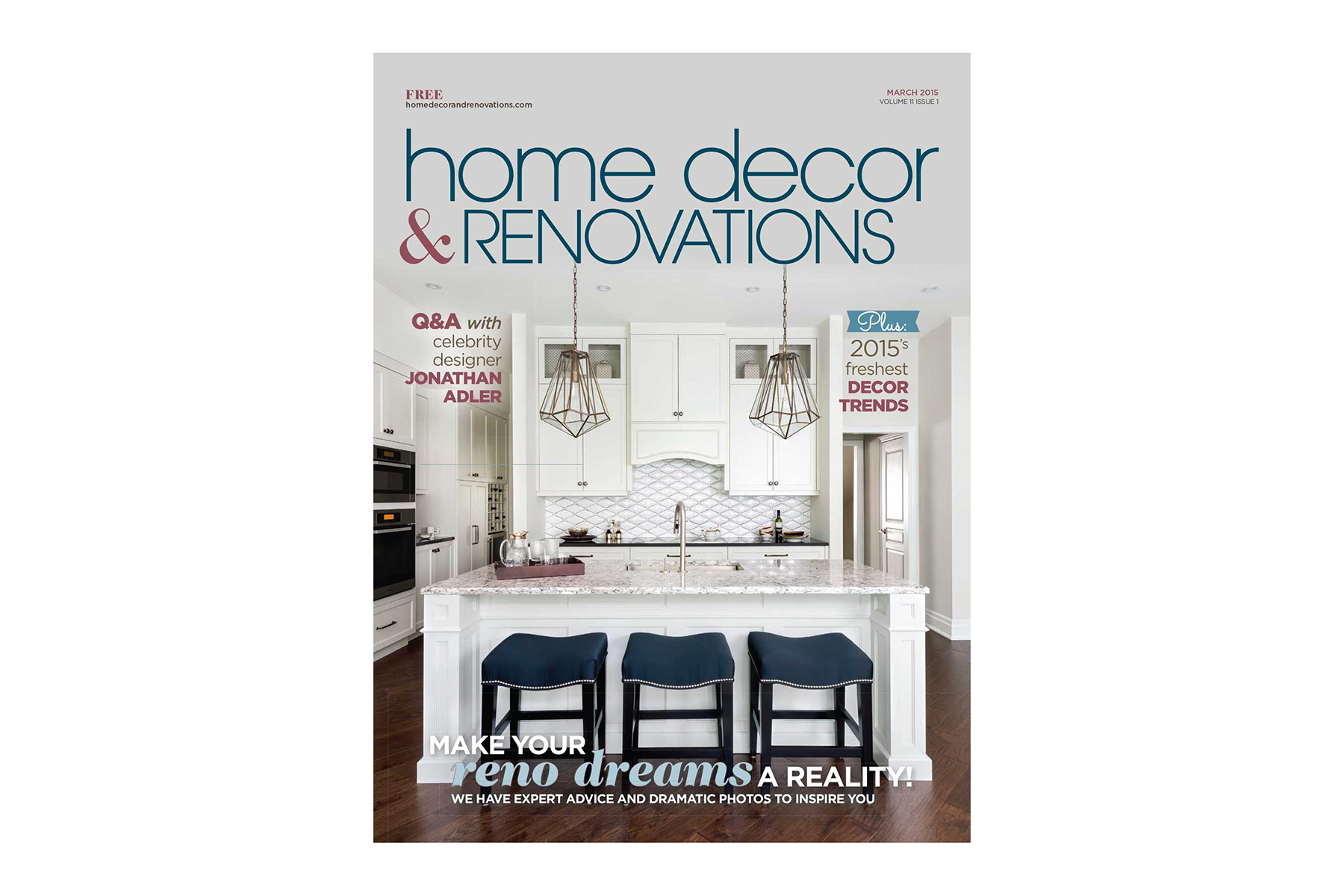 Home Decor & Renovations - Cover - March  2015