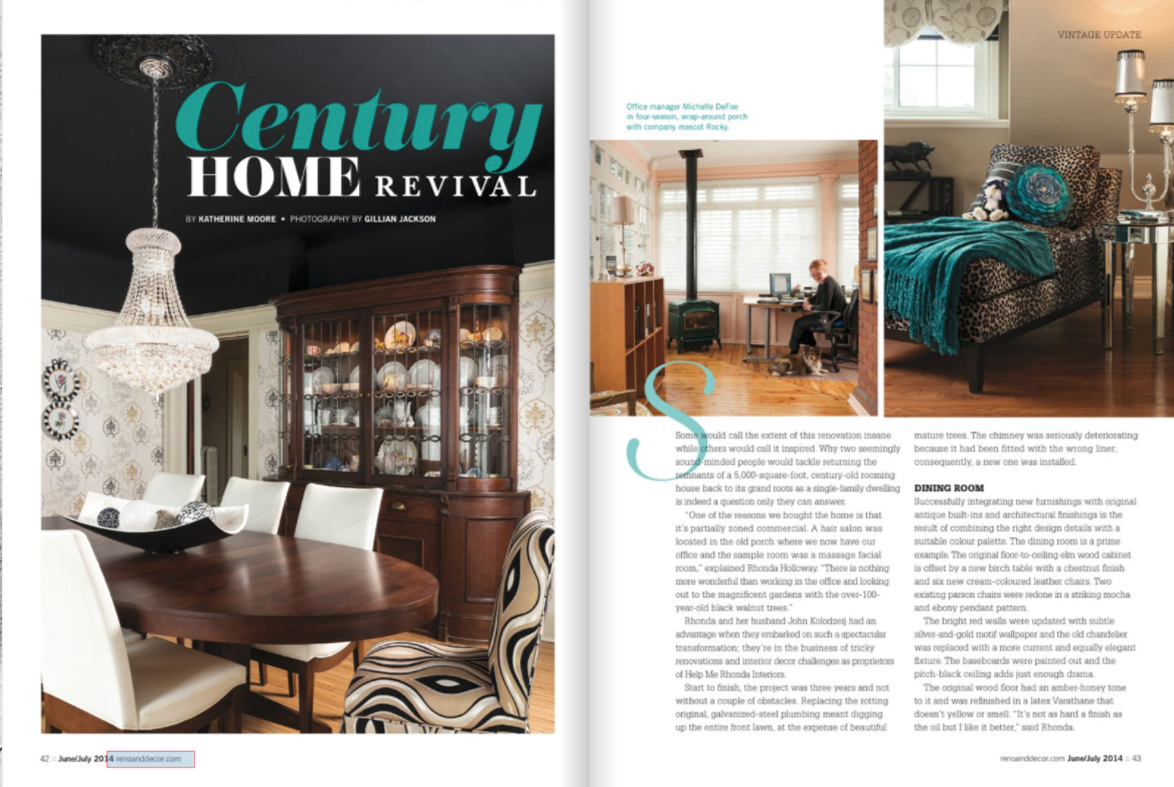 Reno & Decor  - July 2014 - Century Home